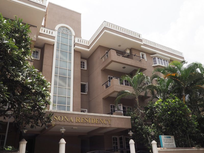 Sona Residency, Richmond Road, Bangalore, a Sona Valliappa Group property
